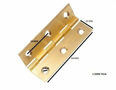 Home & Garden Building & Hardware Glorious Butt Hinge Door Box Extruded Brass 63mm 2 1/2 Inch With Screws 1 Pairs