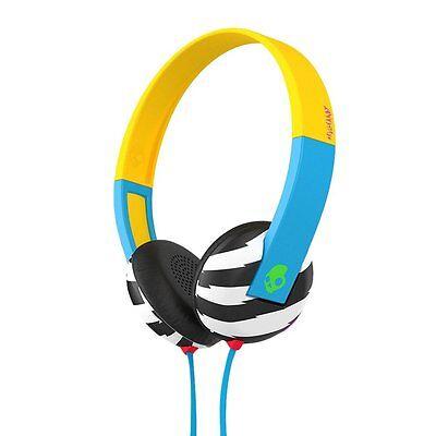 Skullcandy S5URHT-493 BLUE/YELLOW Uproar On Ear Headphone w/Tap Tech / Brand New