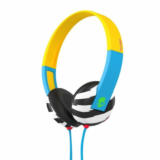 Skullcandy S5URHT-493 Blu/Giallo Uproar in Ear Cuffie con / Rubinetto Tech /