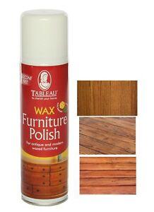 Tableau Wax Furniture Polish Spray Aerosole 250ml Antique Modern Waxed Wood 556