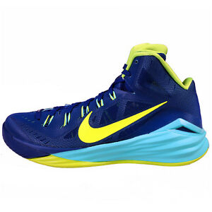 new styles 7458d 184b0 Image is loading Nike-Hyperdunk-2014-Gym-Blue-Volt-Hyper-Turquoise-