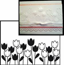 DARICE Embossing Folders SPRING TULIPS Cuttlebug Compatible folder 1218-44