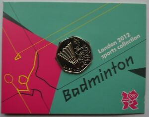 2012-London-Olympic-Games-50p-Sports-Collection-Uncirculated-Coin-Badminton