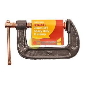 Amtech-Fine-Thread-G-Clamp-Heavy-Duty-4-034-100-mm-bois-metal-travaux-bricolage