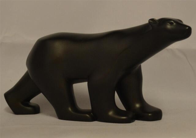 Francois Pompon BLACK POLAR BEAR SCULPTURE Wild Animal Mammal Gift