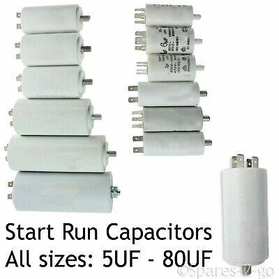 Bosch Capacitor Inicio Ejecutar Motor condensadores Mfd 5uf 80uf Spade Pestañas
