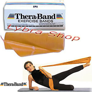 Thera-Band-banda-ELASTICA-ORO-2-5-m-Massima-Resistir-Energia-Fuerza-Musculos