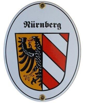 Franken Fränkisches Bayern Email Schild Fahne Emaille 11,5 x 15cm NEU