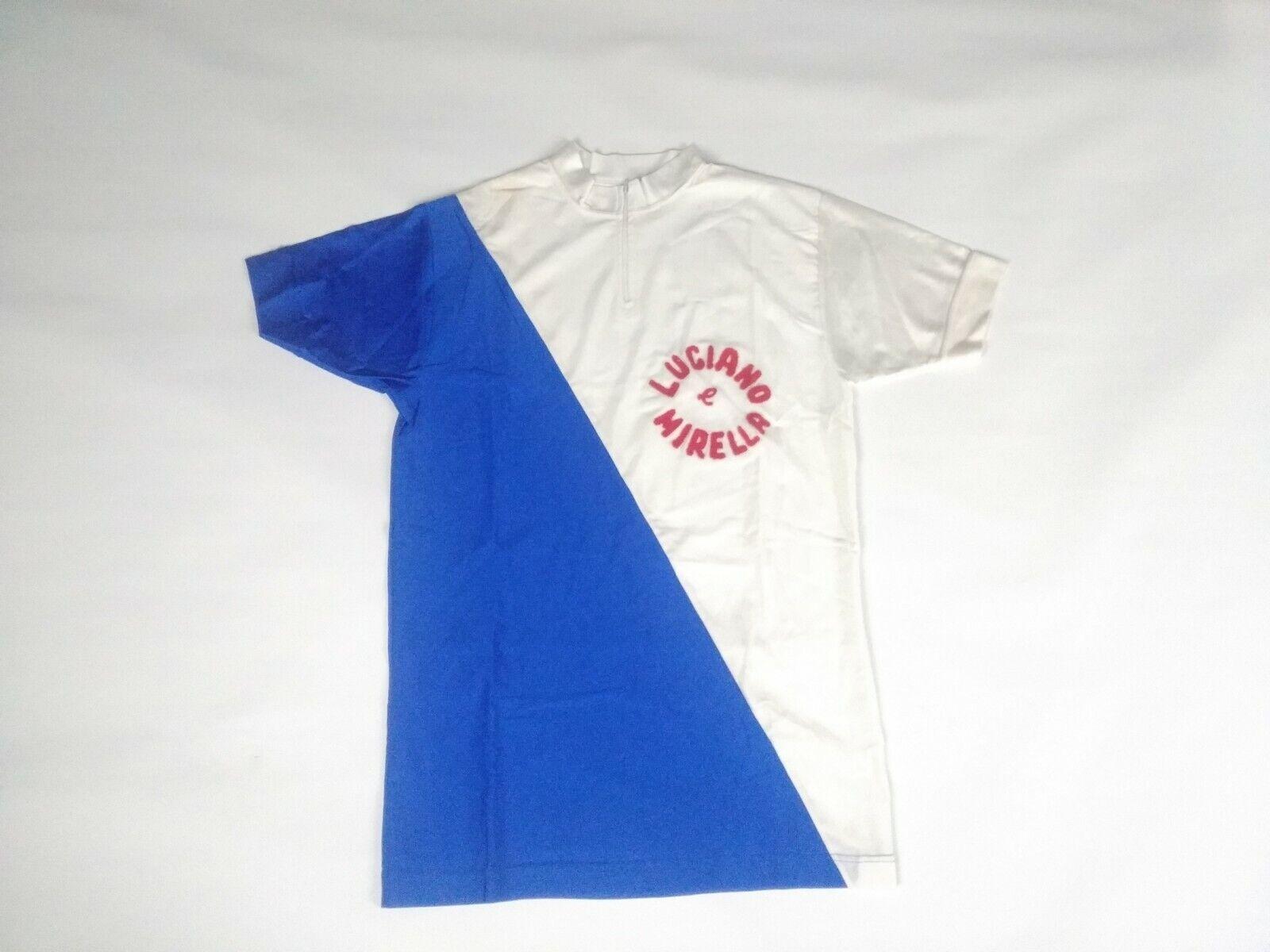 Vintage NOS Radfahren maglia jersey maillot lana Fahrrad bici Luciano e Mirella 4 L