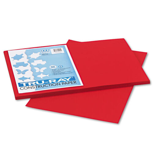 Pacon Tru-Ray Construction Paper 12 x 18 Holiday Red 2 Packs of 50 Sheets