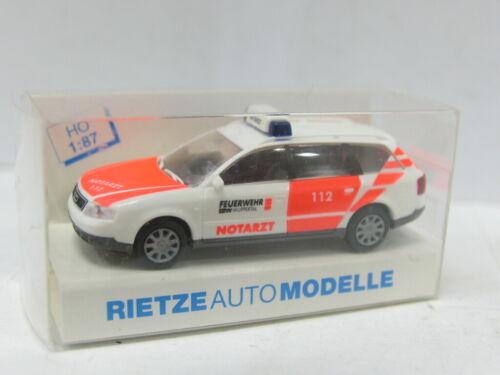 RIETZE Audi Feuerwehr Wuppertal Notruf OVP 1:87 MW 7807