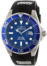 Invicta Men's Pro Diver 200m Blue Dial Black Polyurethane Watch 12559