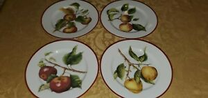 Williams-Sonoma-APPLES-ORCHARD-SET-OF-4-SALAD-PLATES-8-1-4-034
