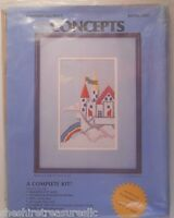 Concepts Rainbow Castle By Sharon Lima Counted Cross Stitch Kit Sealed 3403