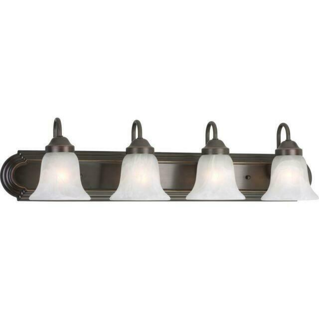 TWO PACK of 30 inch 4-Light VANITY BATHROOM FIXTURE LIGHTS in Oil Rubbed Bronze