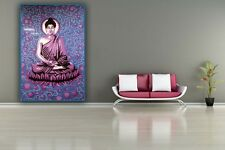 Indian Bedspreads / Wall Hangings - Blue Buddha