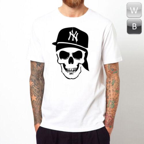 Ny crâne t-shirt new york yankee goth metal cool punisher rock graphic cadeau tee