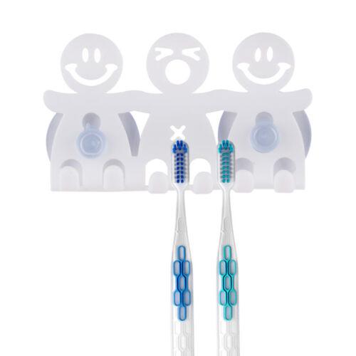 Cartoon Toothbrush Wall Mounted Holder Sucker Bathroom Suction Cup Organizer