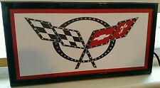 Corvette CHEVROLET led lighted sign shop Home Wall decor New in Box