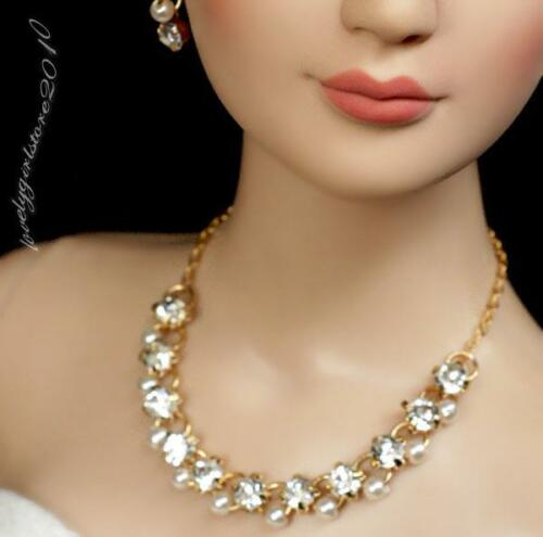 """Rhinestone Necklace and Earring Jewelry Set for 22/"""" Tonner Tyler doll 009C"""