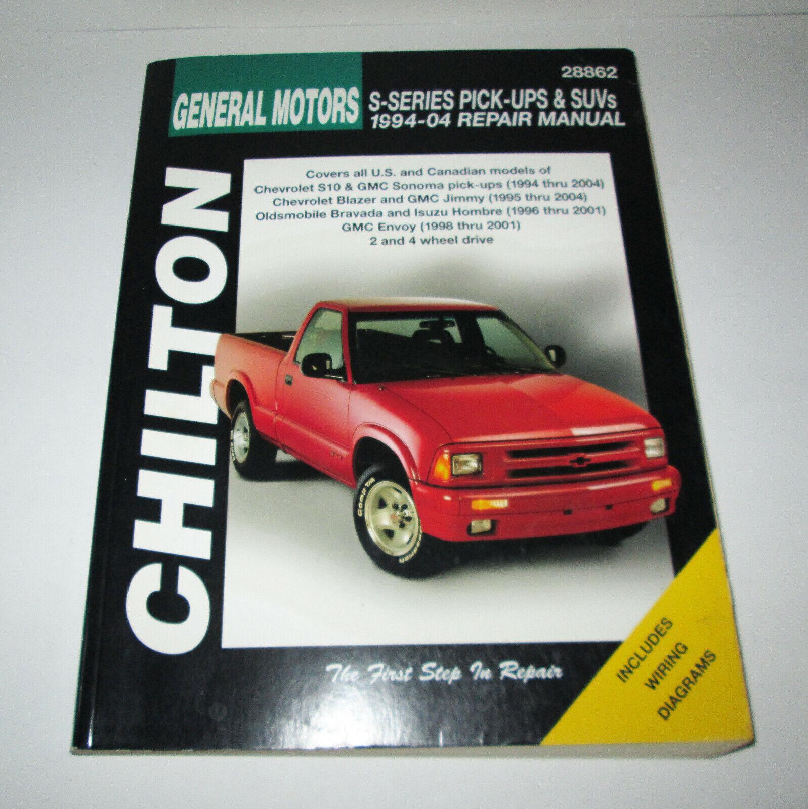 1996 isuzu hombre wiring diagram chilton workshop manual s10 sonoma blazer jimmy hombre envoy 1994  chilton workshop manual s10 sonoma