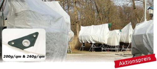 Lona cobertora lona 200-260g/m² bote plane bootabdeckplane Caravan hasta 8x14m