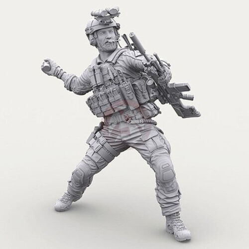 1//16 120mm US Army Soldier Throwing hand grenades Unpainted Resin Model Kits New