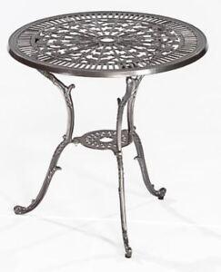Das Bild Wird Geladen Gartentisch Gartenmoebel Alu Metall  Alutisch LUGANO 70cm Rund