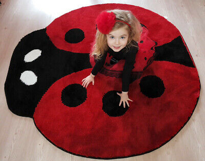 Ladybird Non Slip Machine Washable Rug