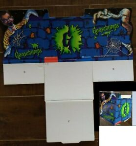Vintage-R-L-Stine-Goosebumps-Foldable-Bookcase-Book-Holder-Box-Set-Collector