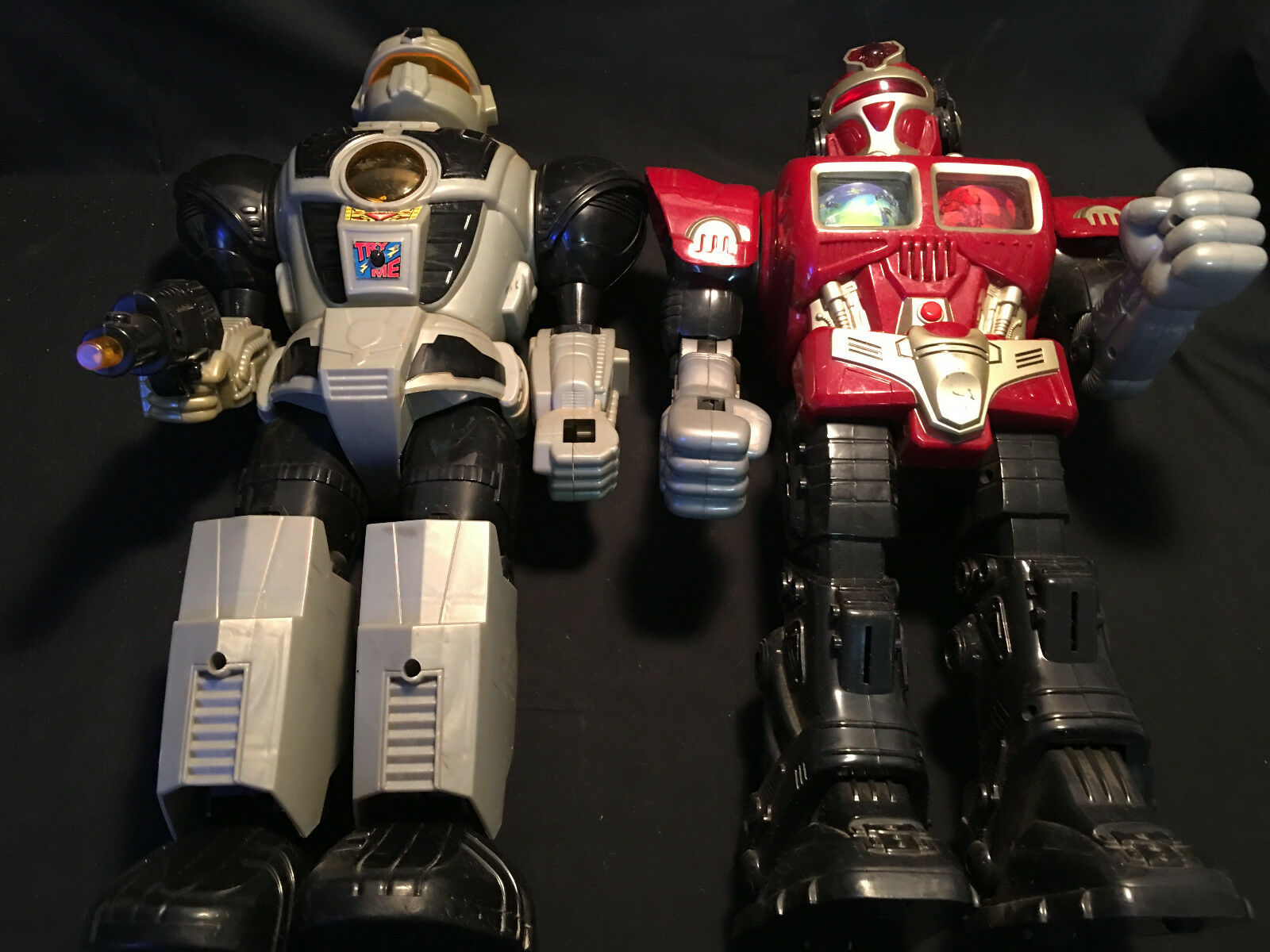 Red And Grey Action Figure Robot  Transformers Look-A-Like  Happy Kid Group