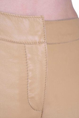 32-38 #80 Dolce /& Gabbana D/&G Lederhose Hose Skinny Sand Gr