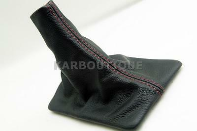 Shift Boot Real Leather For 05-09 Ford Mustang Red Stitch Manual Transmission