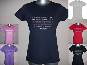 I-SMELL-OF-MINT-SHAMPOO-MANURE-LADIES-FUNNY-HORSE-T-SHIRT-S-XXL-GLITTER