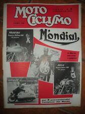 MOTO CICLISMO Settimanale FEBBRAIO 1956 MONDIAL La Marca che crea i Campioni