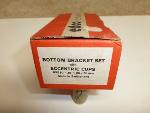 """Edco /""""Competition/"""" Sealed Bottom Bracket w// Eccentric Cups Vintage  1970/'s NOS"""
