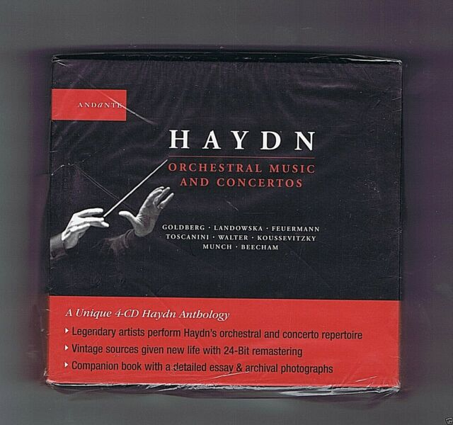 HAYDN ANTOLOGY 4 CDs SET (SEALED) ORCHESTRAL MUSIC AND CONCERTOS(ANDANTE)