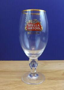 2 NEW Stella Artois Chalice 33 CL Beer Glasses Pub Bar Goblet Man Cave Belgium
