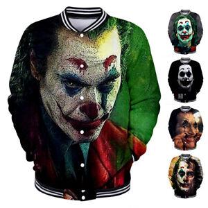 Men-Women-Coat-Shirt-Jacket-Baseball-Uniform-Pullover-Tops-Movie-JOKER-3D-Print