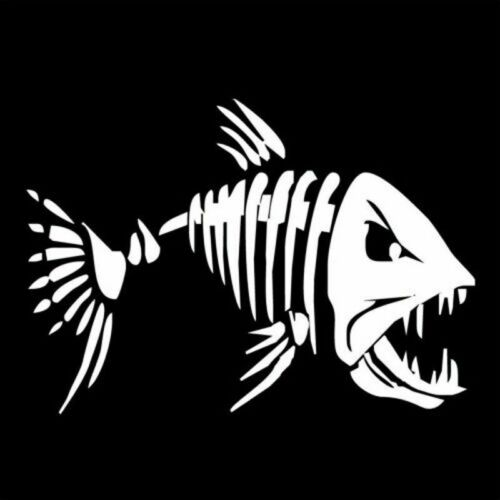 Fish Teeth Mouth Stickers Skeleton Kayak Accessories Fishing Boat Canoe Graphics