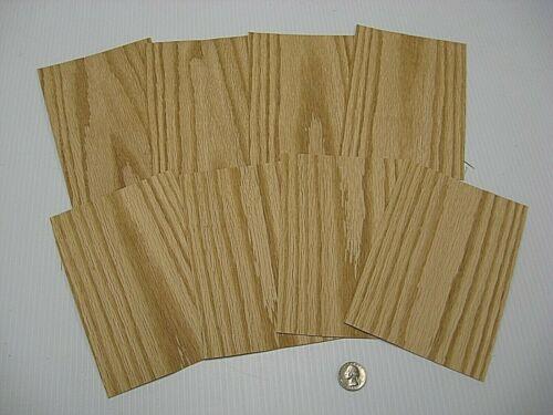 Lot #1492 1 Lot Of 8pcs Red Oak Raw Veneer Shorts