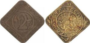 Gent offizielles Notgeld 2 Franken 1915 ss-vz 61875
