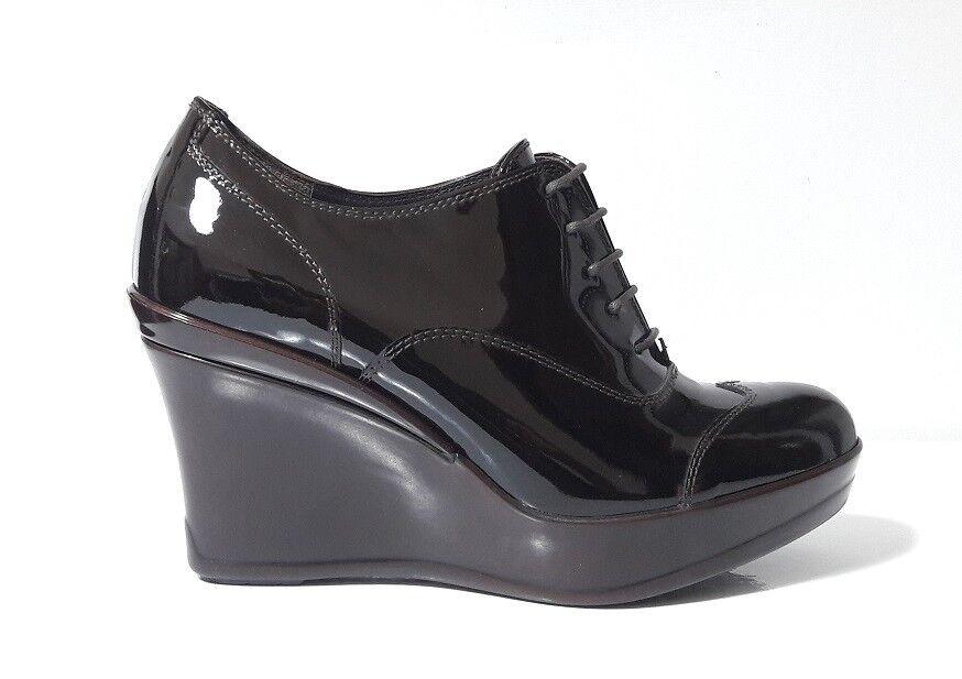 Schuhe Damens FRANCESINE GP PER ALTA NOY VERNICE MORO ZEPPA ALTA PER PLATEAU MADE ITALY 1553ca