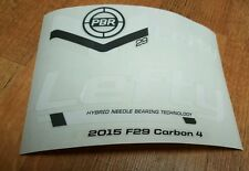 Sticker Decal Set for Cannondale F29 Carbon 4 Lefty PBR 100 Fork
