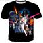 Men/'s Women STAR WARS 3D Graphic Print Casual Short Sleeve Tees Tops T-Shirt FV1