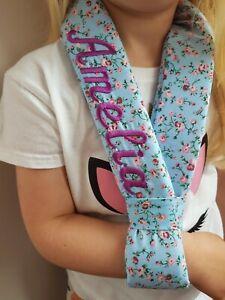 Flower-embroidered-Collar-n-cuff-broken-arm-sling-kids-adult-sizes-Medical-foam