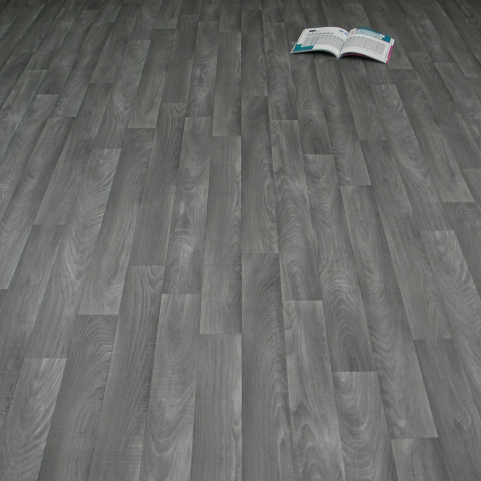 PVC Vinyl Bodenbelag Holz Eiche Grau CV Vinyl Breite 2 m (  m²)