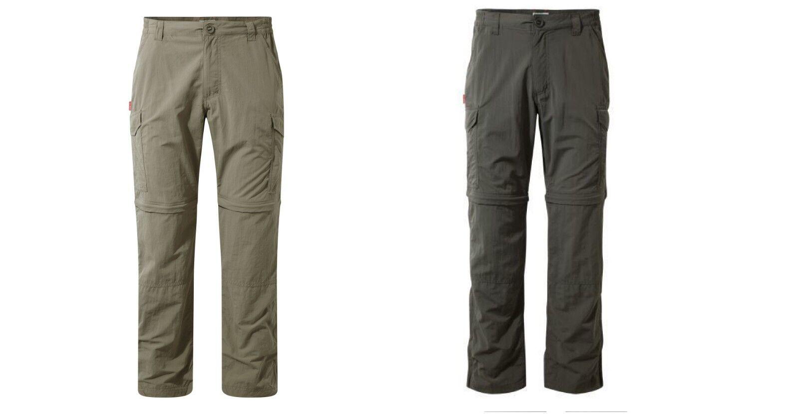Craghoppers Nlife ZIPP-Pantaloni uomo protezione insetti LSF 40 UVP 94,95 50% DI SCONTO