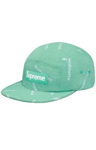 SUPREME Denim Logo Camp Cap Black Blue Green box logo tnf S//S 17