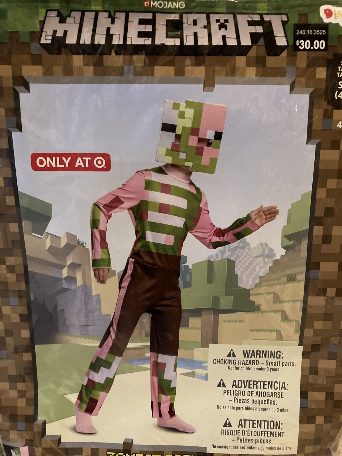 Minecraft Zombie Pigman Child Costume Small 10-10 Video Game Licensed Mojang